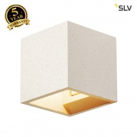 SLV 1000913 SOLID CUBE Wall luminaire, QT14, white sandstone, max. 25W