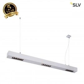 SLV 1000928 Q-LINE PD, LED Indoor pendant light, 1m, BAP, silver, 3000K