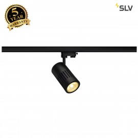 SLV 1000983 STRUCTEC LED spot for 3-circuit 240V track, 24W, 3000K, 60°, black, incl. 3-circuit adapter