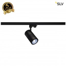 SLV 1000986 STRUCTEC LED spot for 3-circuit 240V track, 24W, 4000K, 36°, black, incl. 3-circuit adapter