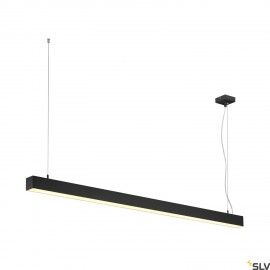 SLV 1001309 Q-LINE DALI SINGLE LED, pendant, dimmable, 1500mm, black