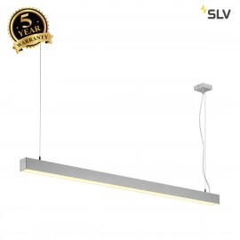 SLV 1001312 Q-LINE DALI SINGLE LED, pendant, dimmable, 1500mm, silver