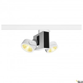 SLV 1001420 TEC KALU double white/black 60° 3000K, incl. 3-circuit adapter