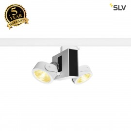 SLV 1001428 TEC KALU double white/black 24° 3000K, incl. 3-circuit adapter