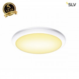 SLV 1001912 RUBA 10 CW sensor, LED Outdoor surface-mounted wall and ceiling light, white IP65 3000/4000K