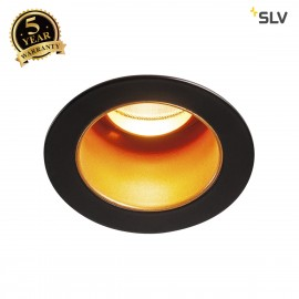 SLV 1001927 TRITON MINI DL, LED indoor recessed ceiling light, black/gold, 2700K, 15°