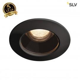 SLV 1001932 VARU DL, LED Outdoor recessed ceiling light, black, IP20/65, 2700K