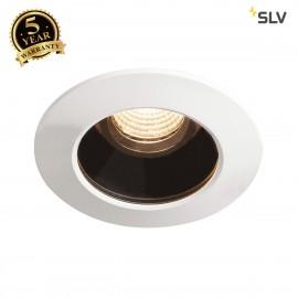 SLV 1001933 VARU DL, LED outdoor recessed ceiling light,black/white, IP20/65, 2700K