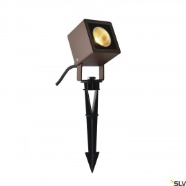 SLV 1001937 NAUTILUS 10 Spike, LED outdoor ground spike luminaire, rust coloured IP65, 3000K, 45°