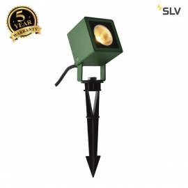 SLV 1001938 NAUTILUS 10 Spike, LED outdoor ground spike luminaire, green IP65 3000K, 45°