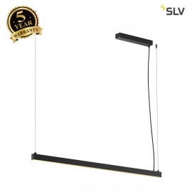 SLV 1001940 AROSA 1.25m, TRIAC, PD, LED indoor pendant, black, 3000K