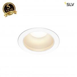 SLV 1001974 RILO DL, LED indoor recessed ceiling light, white/chrome, 3000/4000K, 14W