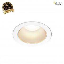 SLV 1001976 RILO DL, LED indoor recessed ceiling light, white/chrome, 3000/4000K, 24W