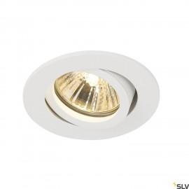 SLV 1001981 NEW TRIA 68 round, indoor recessed ceiling light, QPAR51, white, 50W