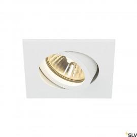 SLV 1001995 NEW TRIA 68 square, indoor recessed ceiling light, QPAR51, white, 50W