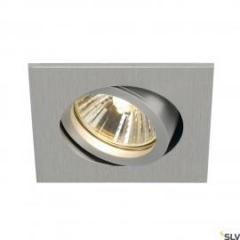 SLV 1001996 NEW TRIA 68 square, indoor recessed ceiling light, QPAR51 brushed aluminium 50W