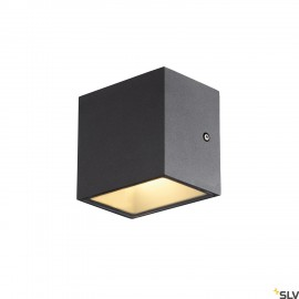 SLV 1002032 SITRA CUBE WL, LED outdoor surface-mounted wall and ceiling light, anthracite, IP44, 3000K, 10W