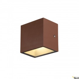 SLV 1002034 SITRA CUBE WL, LED outdoor surface-mounted wall and ceiling light, rust coloured, IP44, 3000K, 10W