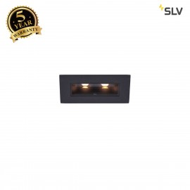 SLV 1002107 MILANDO DL, LED indoor recessed ceiling light, black, 3000K, 330lm