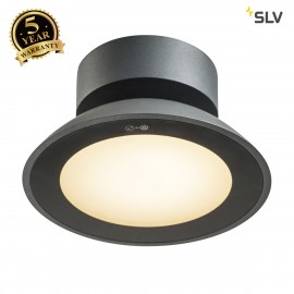 SLV 1002157 MALU CL, LED Outdoor surface-mounted ceiling light, anthracite, IP44, 3000K
