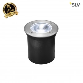 SLV 1002185 ROCCI Round, outdoor LED inground fitting, stainless steel 316, 4000K, IP67, 8.6W