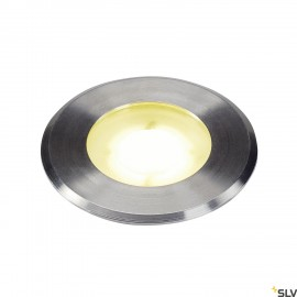 SLV 1002188 DASAR® Flat, outdoor LED recessed floor light, stainless steel 304, 4000K, IP67, 4.3W