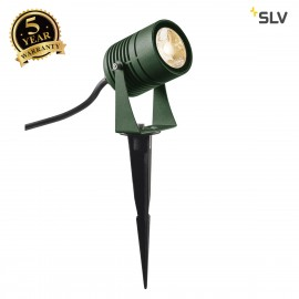 SLV 1002202 LED SPIKE, LED outdoor ground spike luminaire, green, IP55, 3000K, 40°