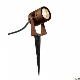 SLV 1002203 LED SPIKE, LED outdoor ground spike luminaire, rust coloured, IP55, 3000K, 40°