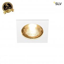 SLV 1002204 PIKA QPAR51, square, indoor recessed ceiling light, white, fixed, max. 50W