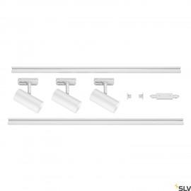 SLV NOBLO SPOT White 1 Circuit Track Lighting Set 2700K 1002611