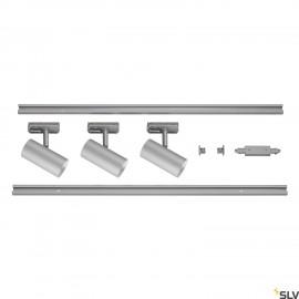 SLV NOBLO SPOT Black 1 Circuit Track Lighting Set 2700K 1002612