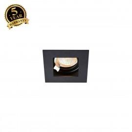 SLV INDI REC 1S QPAR51 Square Black Recessed Ceiling Light GU10 max 50W 1002857