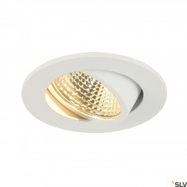 SLV NEW TRIA 68 I CS LED round recessed ceiling light white 2700K 300lm 38° incl. driver 1003059