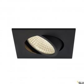 SLV NEW TRIA 68 I CS LED square recessed ceiling light black 3000K 300lm 38° incl. driver clip springs 1003061