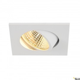 SLV NEW TRIA 68 I CS LED square recessed ceiling light white 2700K 300lm 38° incl. driver clip springs 1003063
