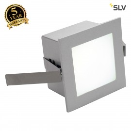 SLV 111260 FRAME BASIC LED recessed light, square, silver-grey, whiteLED