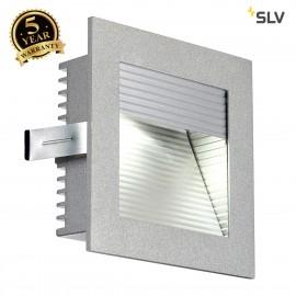 SLV 111290 FRAME CURVE LED recessed light, square, silver-grey, whiteLED