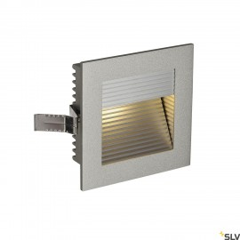 SLV FRAME CURVE LED recessed light , square, silver-grey, warm white LED 111292
