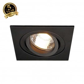 SLV 111700 NEW TRIA I MR16 downlight,square, matt black, max. 50W,incl. leaf springs