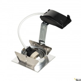 SLV 111726 NEW TRIA I GU10 downlight,square, alu brushed, max. 50W,incl. leaf springs