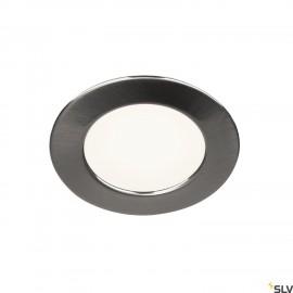 SLV 112225 DL 126 LED, downlight, round,brushed metal, warm white, 12V