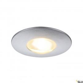 SLV 112242 DEKLED recessed light, round,silver metallic, 1W LED, warmwhite, 3000K