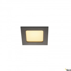 SLV 112720 FRAME BASIC LED SET, downlight, matt black, 6W, 3000K, incl.driver