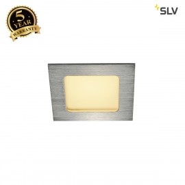 SLV 112726 FRAME BASIC LED SET, downlight, alu brushed, 6W, 3000K,incl. driver