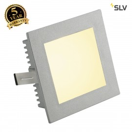 SLV 112732 FLAT FRAME BASIC recessedlight, square, silver-grey, G4, max. 20W