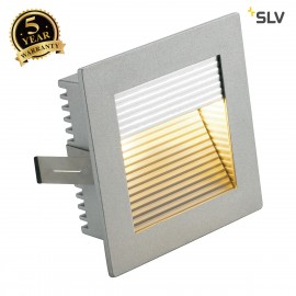 SLV 112772 FLAT FRAME CURVE recessedlight, square, silver-grey, G4, max. 20W