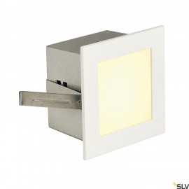 SLV 113262 FRAME BASIC LED recessed light, square, matt white, warmwhite LED