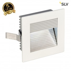 SLV 113290 FRAME CURVE LED recessed light, square, matt white, whiteLED