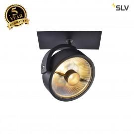 SLV 113350 KALU RECESSED ES111, 1 spot,matt black, 1x ES111 max. 50W
