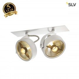 SLV 113361 KALU RECESSED ES111, 2 spots,matt white, 2x ES111 max. 2x50W